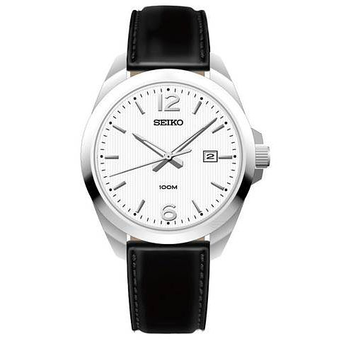 Seiko Gent's Black Strap Watch - Product number 5427924