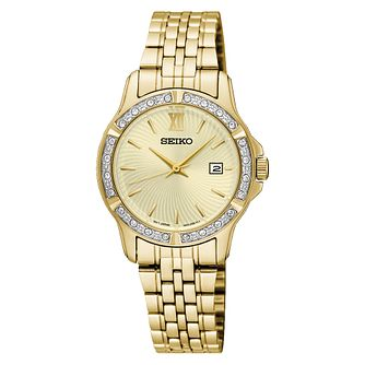 Seiko Ladies' Stainless Steel Gold Bracelet Watch - Product number 5427975