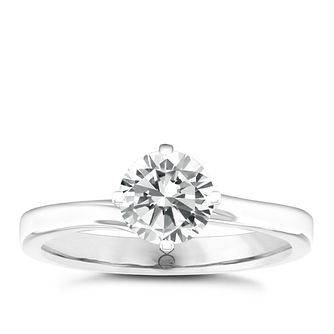 The Diamond Story 18ct White Gold 1/4ct Solitaire Ring - Product number 5428335