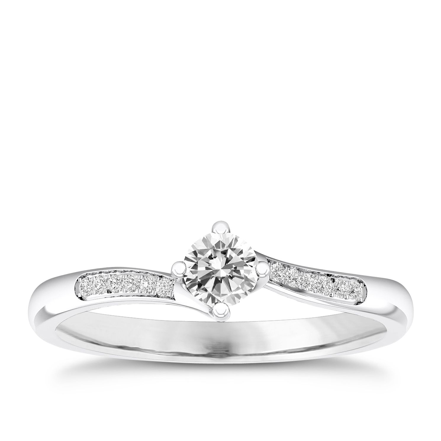 The Diamond Story 18ct White Gold 1/5ct Engagement Ring - Product number 5428882