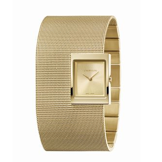 Calvin Klein Offsite Ladies' Gold Tone Mesh Cuff Watch - Product number 5436893