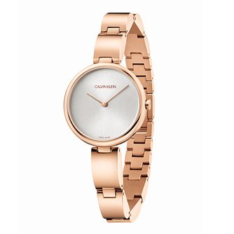 Calvin Klein Wavy Ladies' Rose Gold Tone Bracelet Watch - Product number 5436915