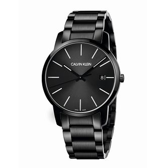 Calvin Klein City Men's Black Stainless Steel Bracelet Watch - Product number 5437059