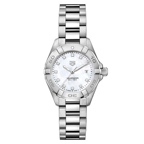 TAG Heuer Aquaracer Diamond Mother of Pearl Bracelet Watch - Product number 5446694