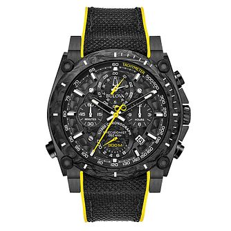Bulova Precision Men's Ion Plated Chronograph Strap Watch - Product number 5446937