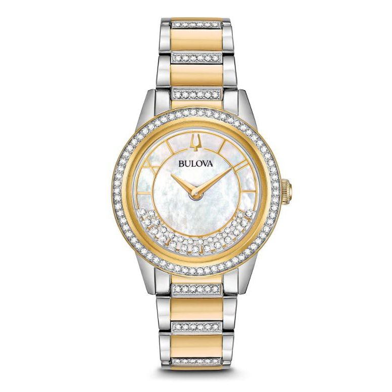 Bulova Turnstyle Ladies' Yellow Gold Plated Bracelet Watch - Product number 5446953