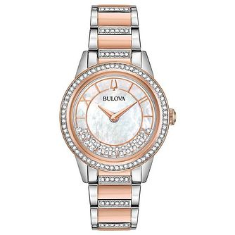 Bulova Turnstyle Ladies' Rose Gold Plated Bracelet Watch - Product number 5446961
