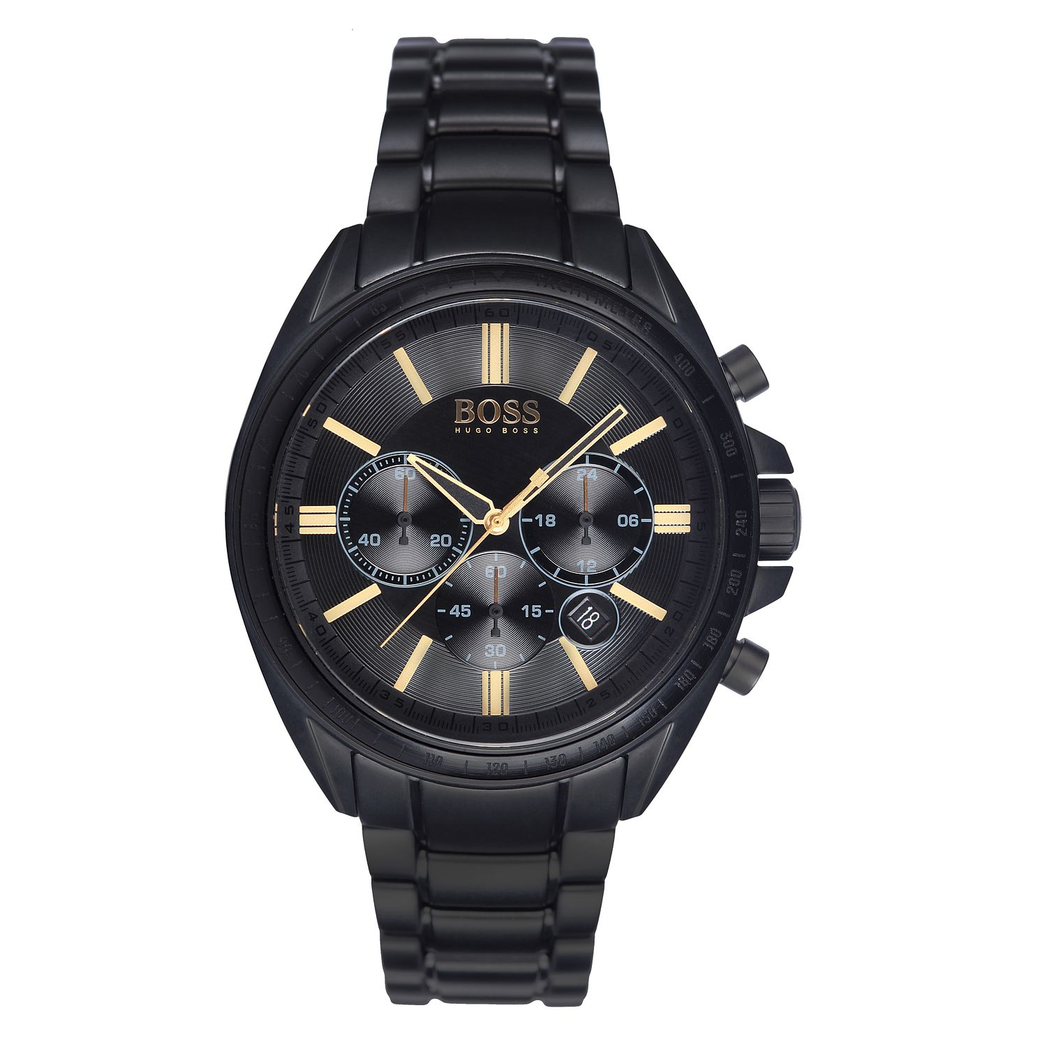 BOSS Driver Men's Black Ion-Plated Bracelet Watch - Product number 5447585