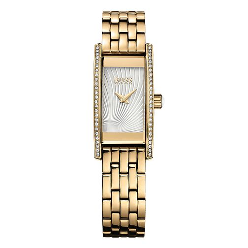 Hugo Boss Ladies' Stone Set Gold Plated Bracelet Watch - Product number 5450616