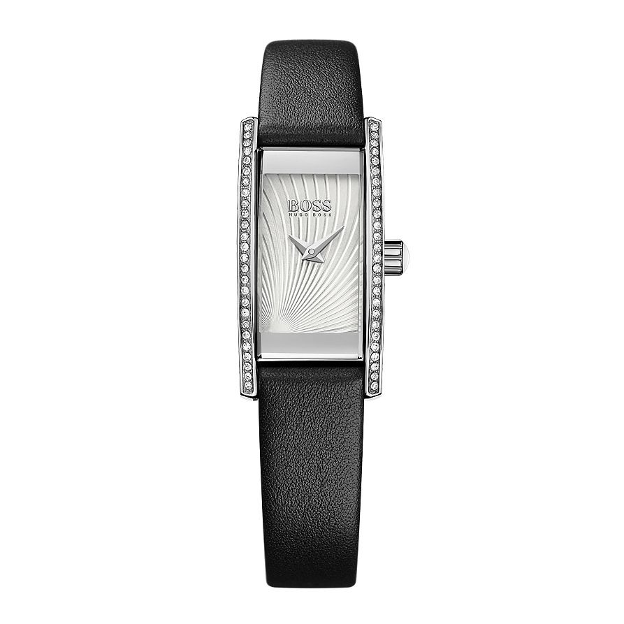 BOSS Cocktail Ladies' Black Leather Strap Watch - Product number 5450640