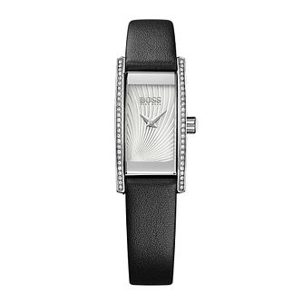 Hugo Boss Cocktail Ladies' Black Leather Strap Watch - Product number 5450640