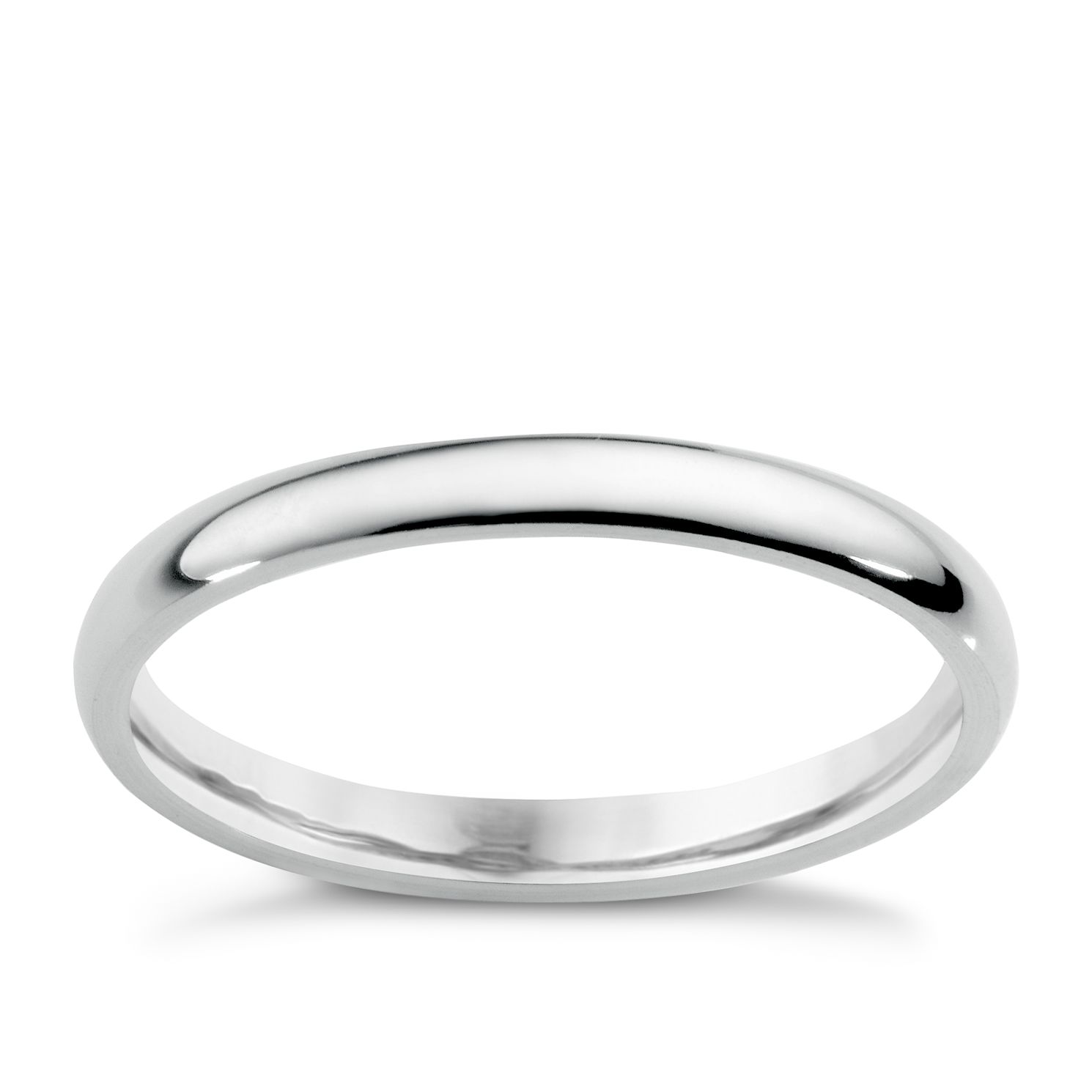 18ct White Gold 2mm Extra Heavyweight Court Ring - Product number 5487145