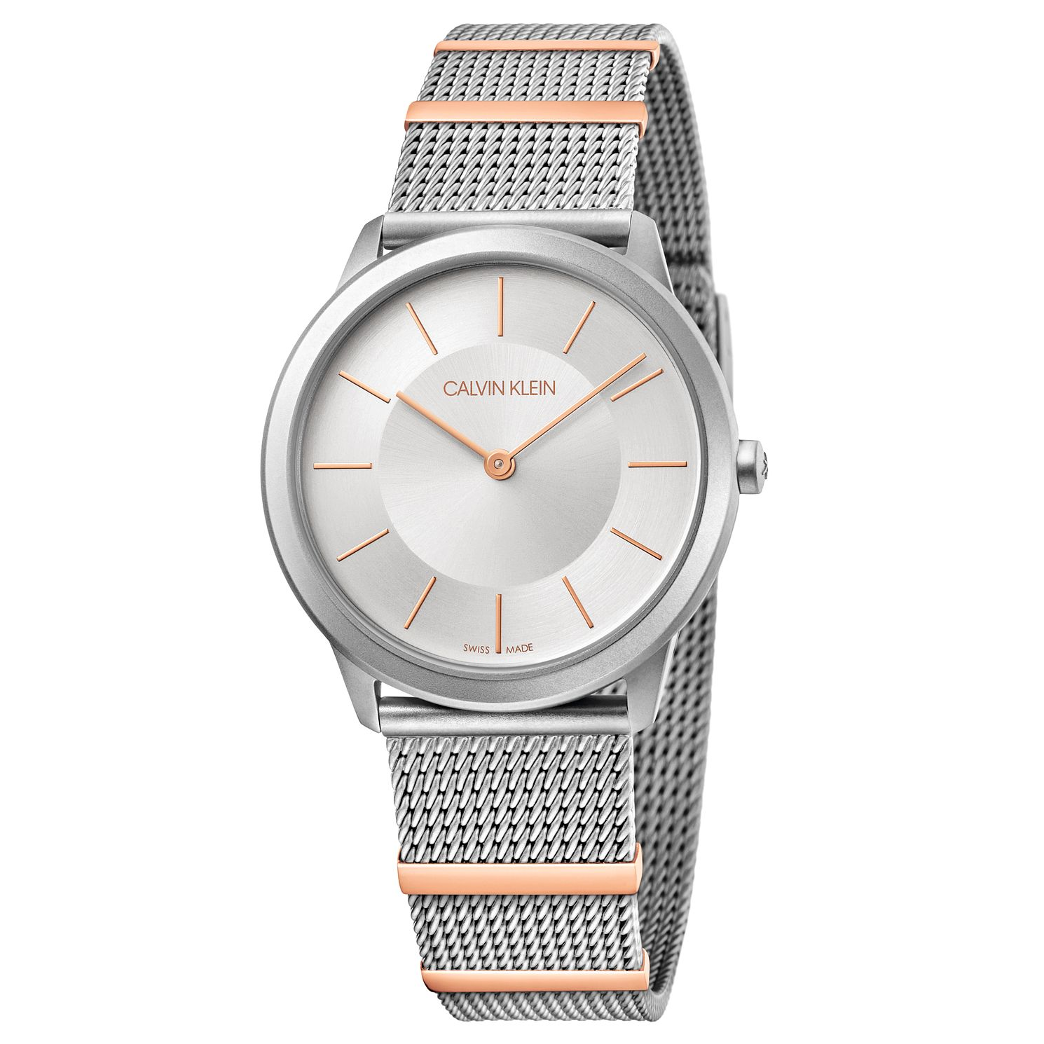 Calvin Klein Minimal Ladies' Two Tone Mesh Bracelet Watch - Product number 5511119