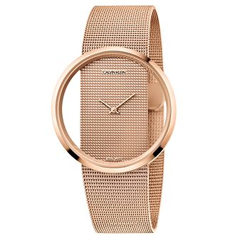 Calvin Klein Glam Ladies' Rose Gold Tone Bracelet Watch - Product number 5511135
