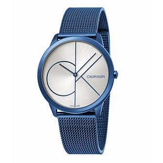 Calvin Klein Minimal Men's Blue Steel Mesh Bracelet Watch - Product number 5511143