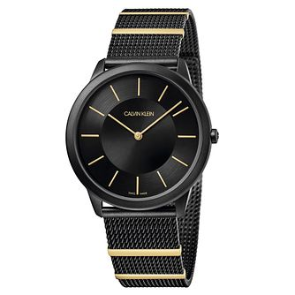 Calvin Klein Minimal Men's Two Tone Mesh Bracelet Watch - Product number 5511186
