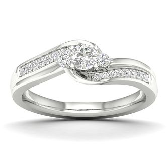 The Diamond Story 18ct White Gold 0.33ct Total Diamond Ring - Product number 5511666
