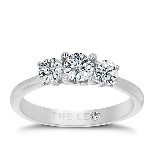 Leo Diamond 18ct White Gold 3 Stone 1/2ct II1 Diamond Ring - Product number 5513243