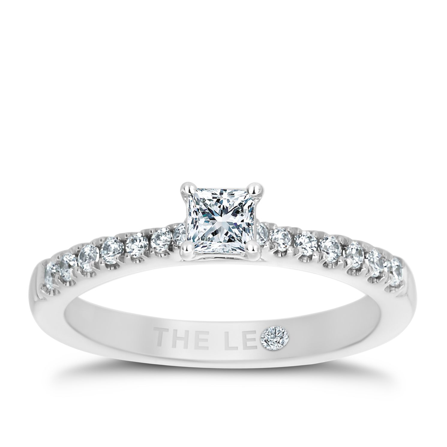Leo Diamond 18ct White Gold 1/2ct Ii1 Diamond Ring - Product number 5513502