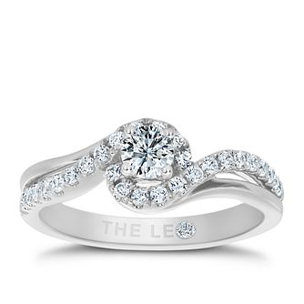 Leo Diamond 18ct White Gold 1/2ct Ii1 Diamond Halo Ring - Product number 5513642