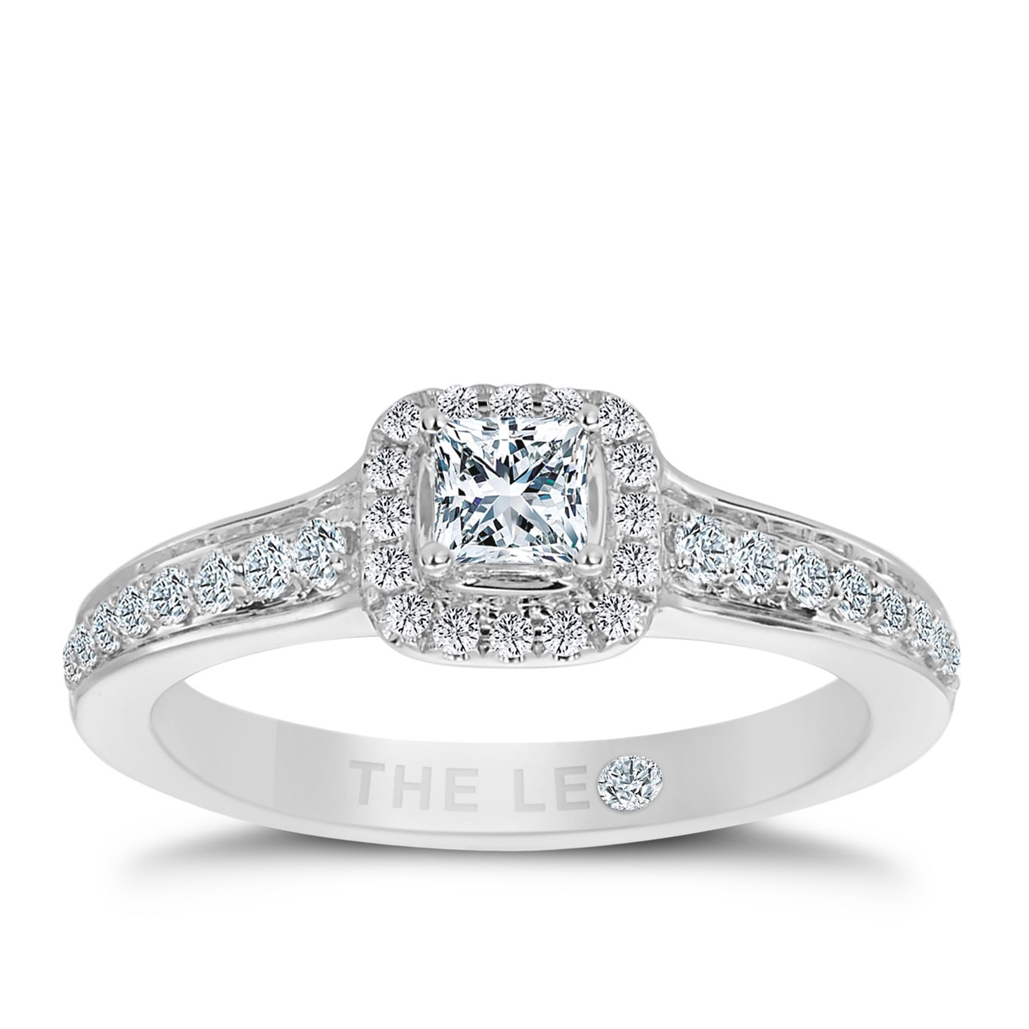 Leo Diamond 18ct White Gold 1/2ct Ii1 Diamond Halo Ring - Product number 5513774
