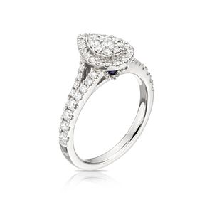 Vera Wang 18ct White Gold 0.70ct Diamond Pear Cluster Ring - Product number 5514738