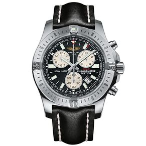 Breitling Colt Men's Chronograph Black Leather Strap Watch - Product number 5516684