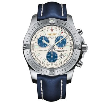 Breitling Colt Superquartz Men's Blue Leather Strap Watch - Product number 5516714