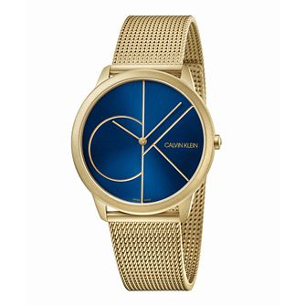 Calvin Klein Minimal Men's Gold Tone Mesh Bracelet Watch - Product number 5519926