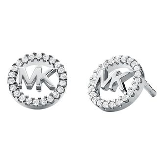 Michael Kors Logo Silver Cubic Zirconia Earrings - Product number 5522552
