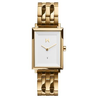 MVMT Charlie Signature Square Gold Tone Bracelet Watch - Product number 5524490