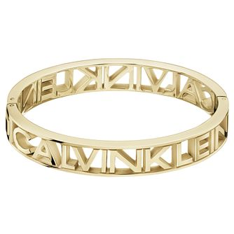 Calvin Klein Mania Yellow Gold Tone Closed Bangle Bracelet - Product number 5524857