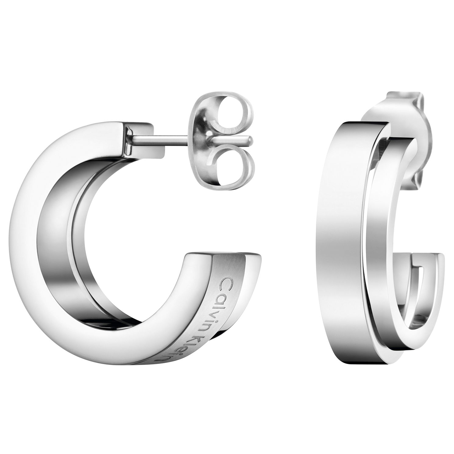 Calvin Klein Unite Stainless Steel Open Hoop Earrings - Product number 5524938