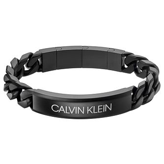 Calvin Klein Valour Men's Black Stainless Steel Bracelet - Product number 5524946