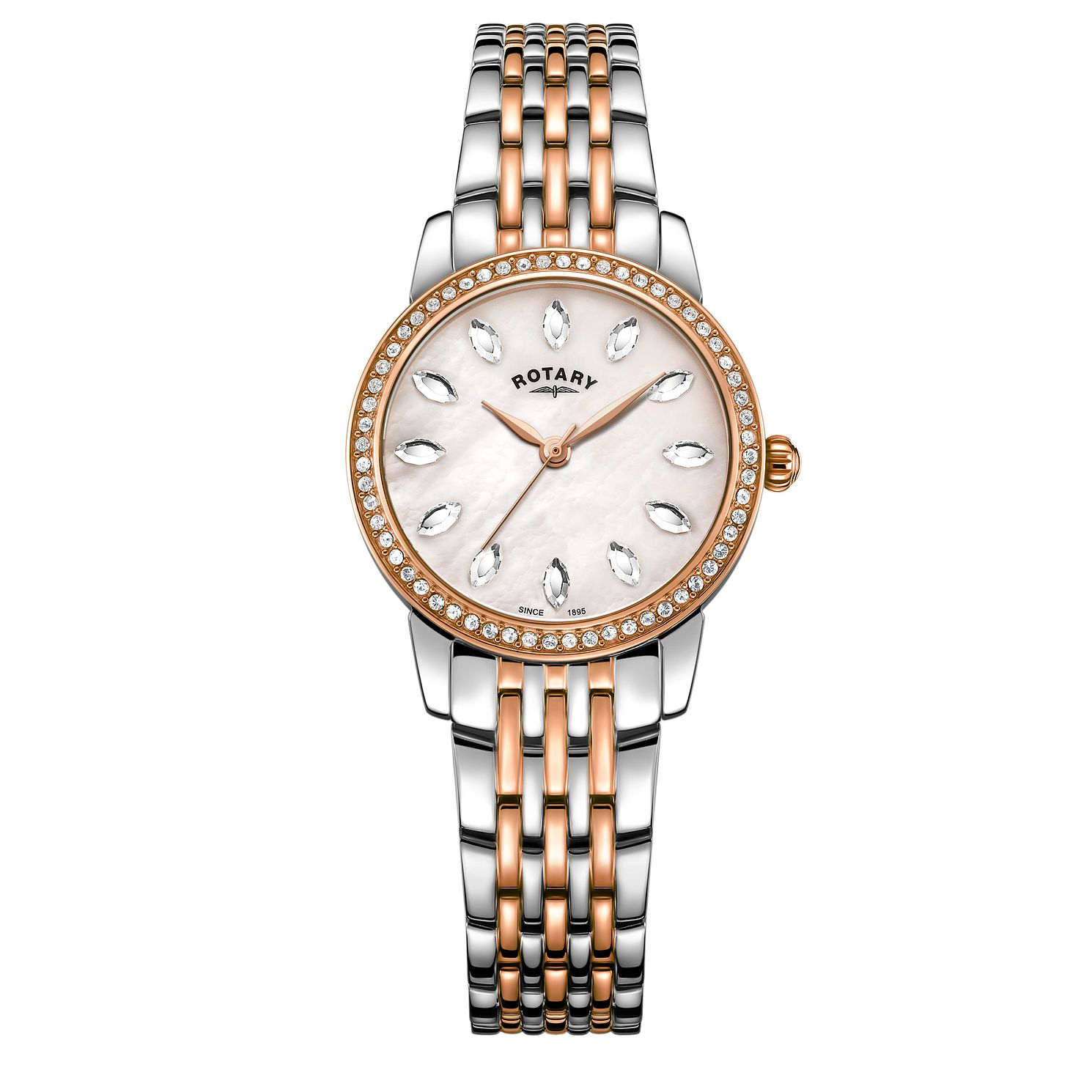 Rotary Crystal Ladies' Two Tone Bracelet Watch - Product number 5525292