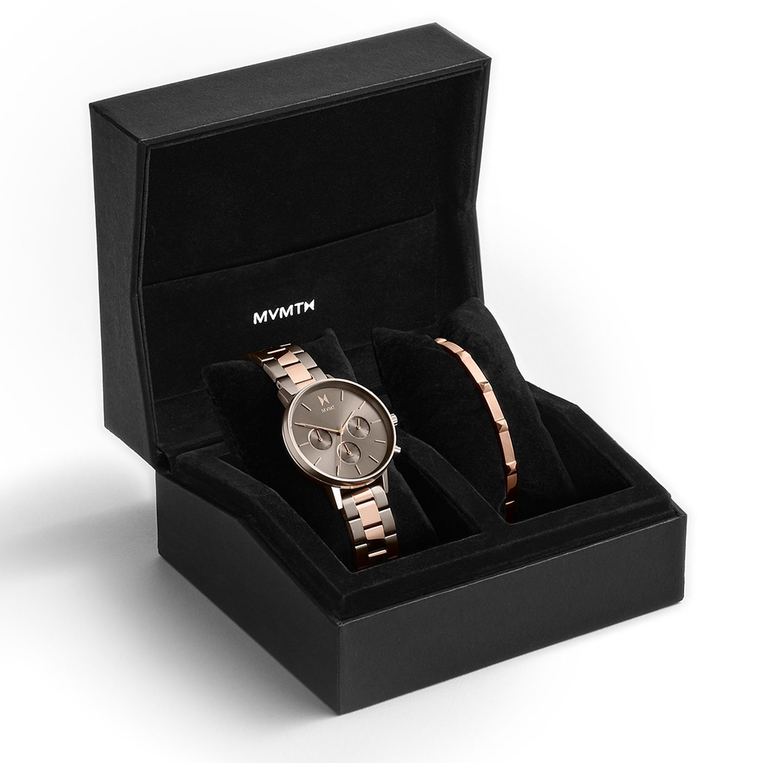 MVMT Nova Ladies' Rose Gold Tone Watch & Bangle Gift Set - Product number 5525527