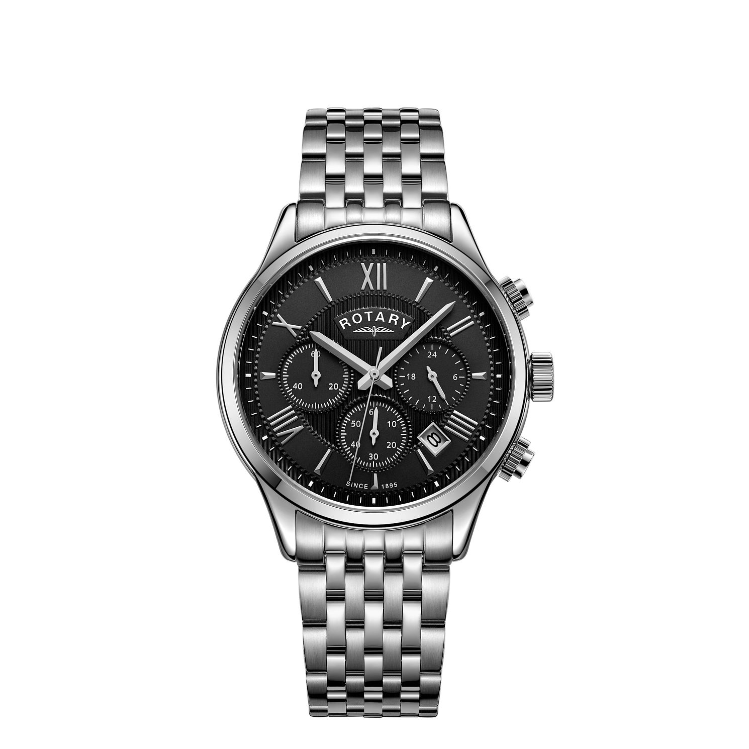 Rotary Chronograph Men's Stainless Steel Bracelet Watch - Product number 5525608