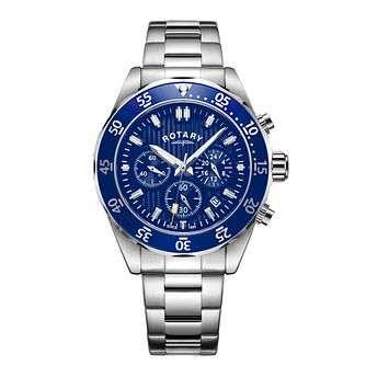 Rotary Chronograph Men's Stainless Steel Bracelet Watch - Product number 5525683