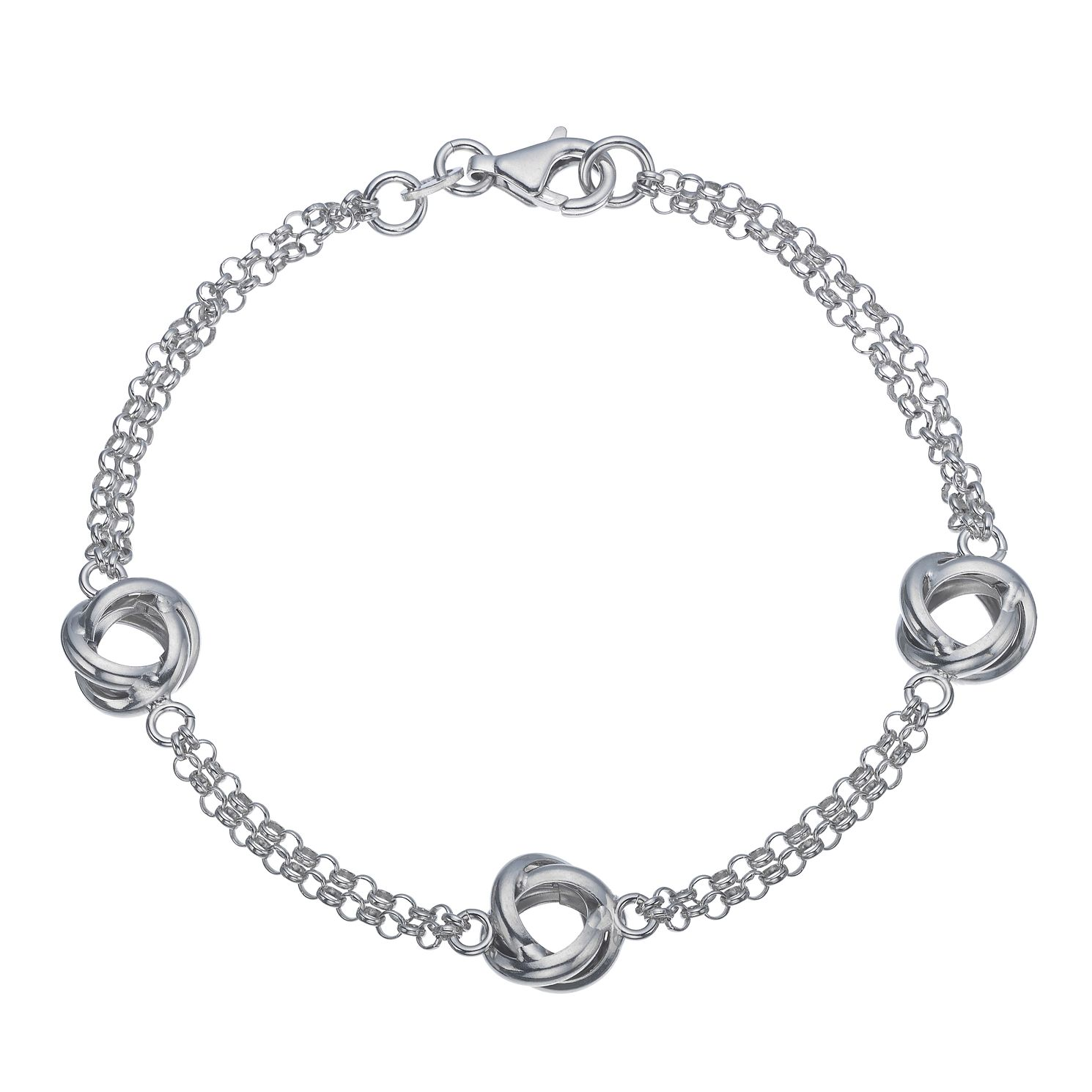 Silver Triple Knot Chain Bracelet - Product number 5527066