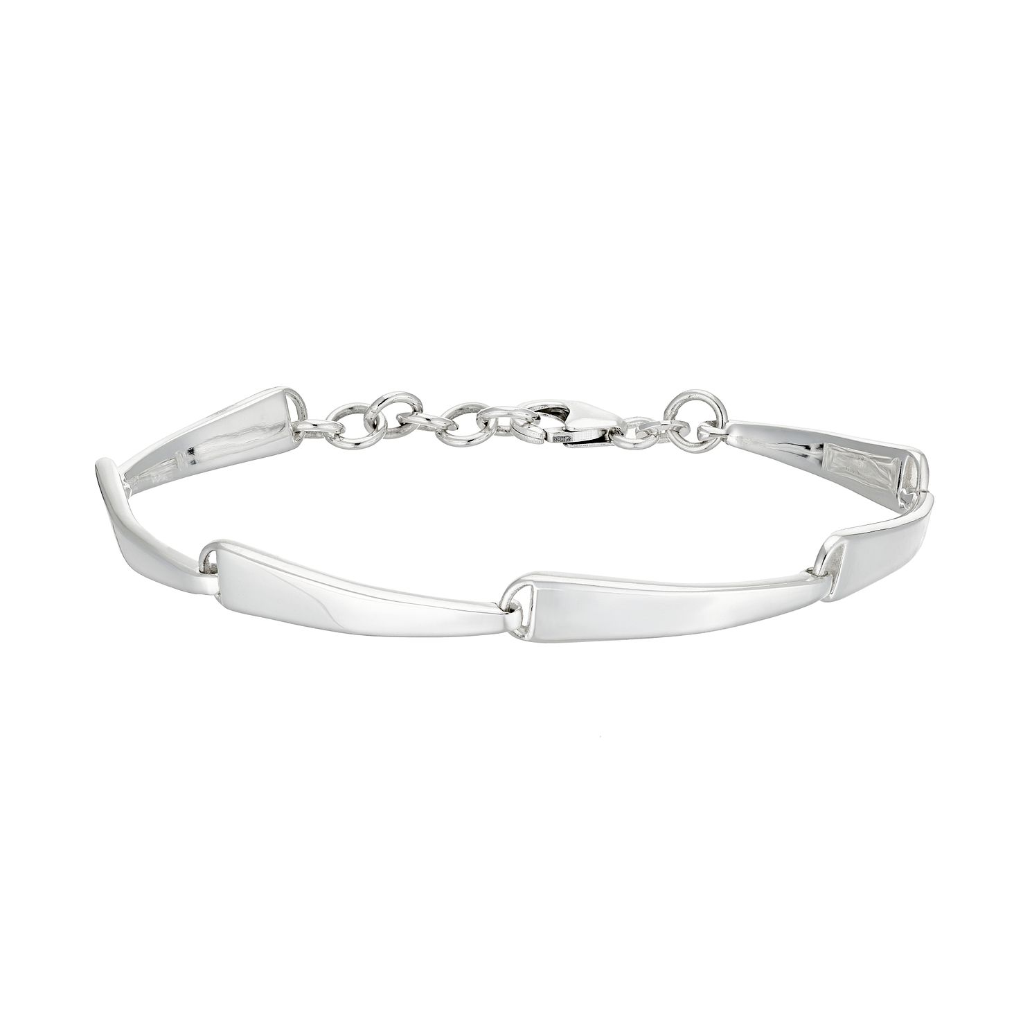 Silver Wave Link Bracelet - Product number 5527252