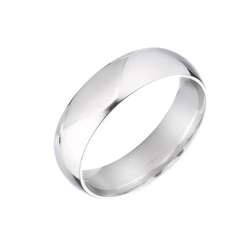 9ct White Gold 6mm Super Heavy Court Ring - Product number 5546877
