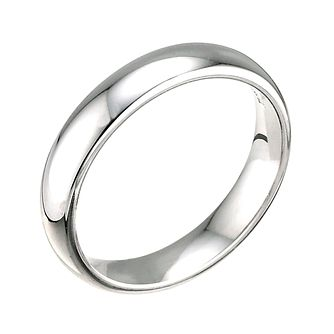18ct White Gold 4mm Super Heavy Court Ring - Product number 5547040