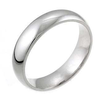 18ct White Gold 5mm Super Heavy Court Ring - Product number 5547091
