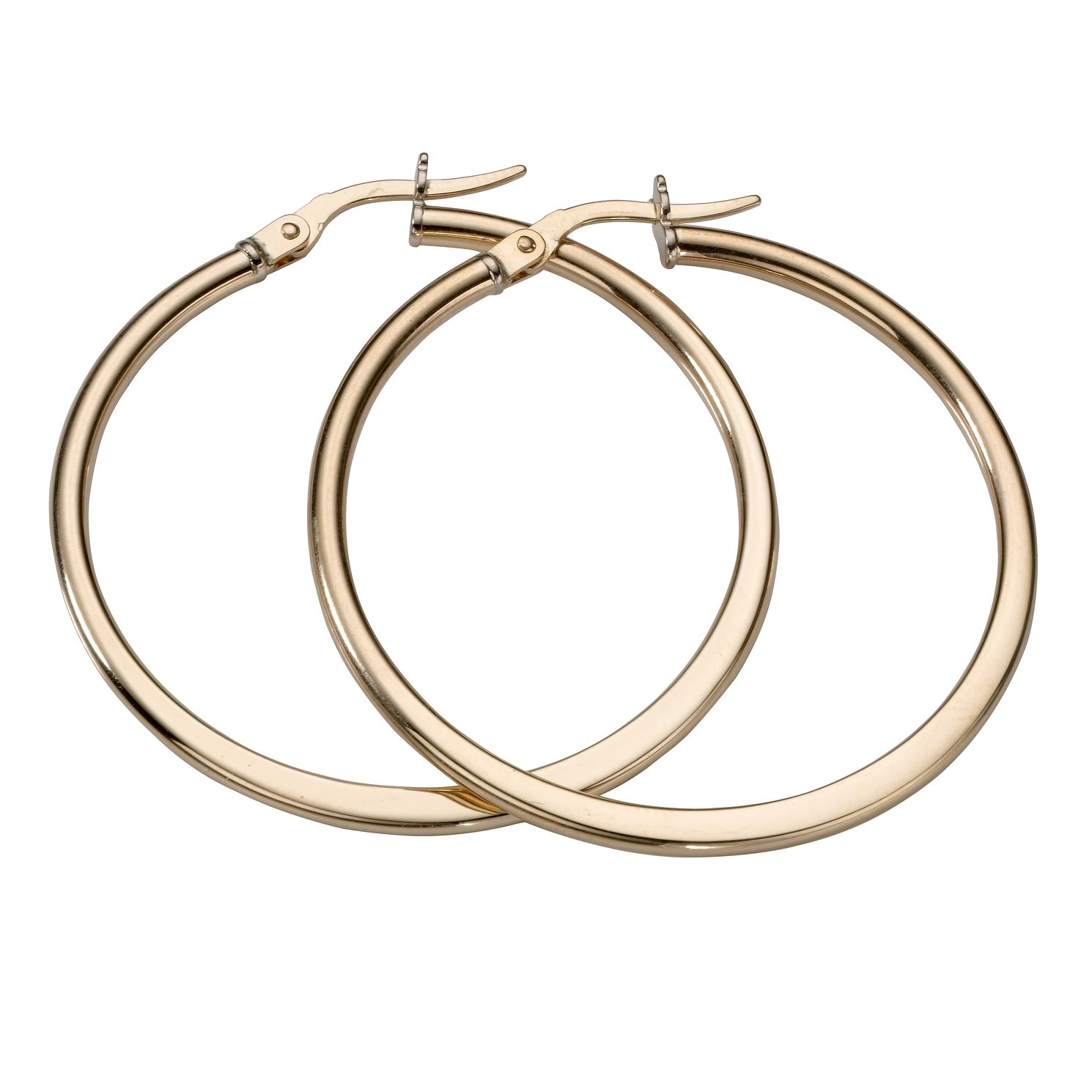 9ct Yellow Gold 35mm Hoop Earrings - Product number 5551714
