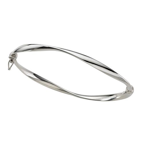 9ct white gold bangle - Product number 5571855