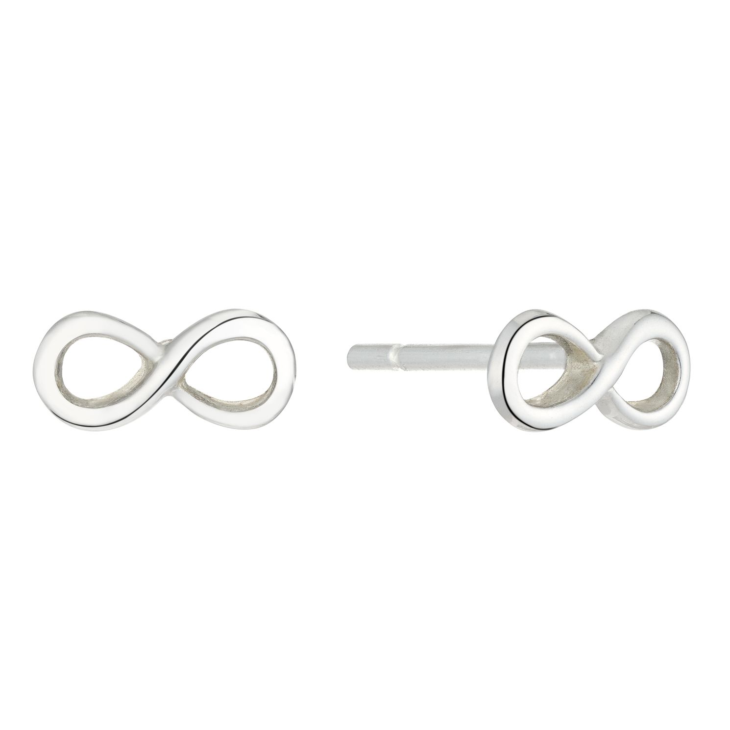 Silver Infinity Symbol Stud Earrings - Product number 5693705
