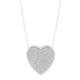Silver Glitter Heart Pendant - Product number 5694124