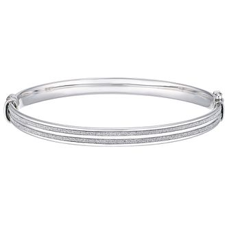 Silver Glitter Hinged Bangle - Product number 5694205