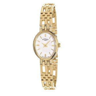 Rotary Ladies' Oval Dial 9ct Yellow Gold Bracelet Watch - Product number 5694442