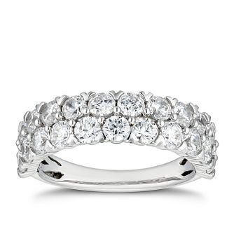 Platinum 2ct Diamond Double Row Eternity Ring - Product number 5694485